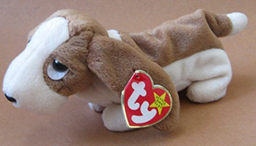 TY Beanie Babies Tracker the Basset Hound Dog Plush Toy Stuffed Animal