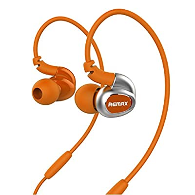 GranVela remax S1 Sports earphone Memory Wire In-Ear Headphones with Microphone for Phone 6 Plus 5S 5C 5 4S, iPad Air 2 Mini 3,Samsung Galaxy S6 S5 S4 Note Tab, Nexus, HTC, Motorola, More Phones and Tablets & MP3/MP4 Players--Orange