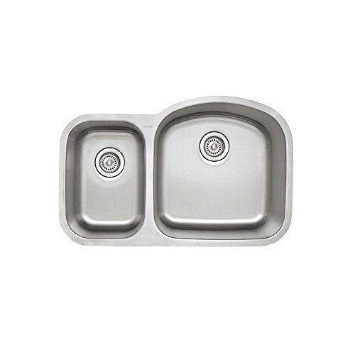 Blanco 441262 Stellar 1.6 Bowl Reverse Kitchen Sink, Stainless Steel (Undermount Reverse Sink Bowl)
