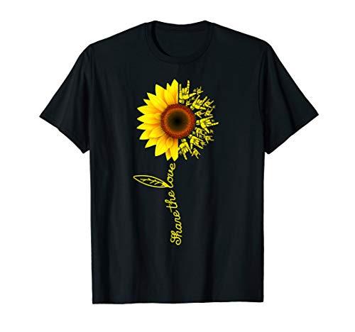 Share The Love Sunflower ASL T-Shirt ASl Sunflower Gift]()