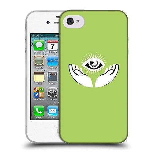 GoGoMobile Coque de Protection TPU Silicone Case pour // Q09090628 Œil Providence 19 poule // Apple iPhone 4 4S 4G