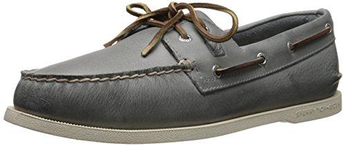 Sperry Top-Sider Men's Authentic Original Burnished Boat Shoe, Grey, 12 M US