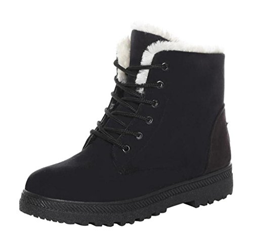 Snow Boots, ✽ANGLIN✽ Classic Women's Warm Snow Boots Winter Short Boots (7, Black)
