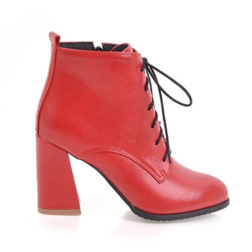 Zipper Ankle High Red Women Fashion 2 Boots Dress Melady wPvqIYz