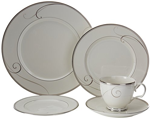 Noritake Platinum Wave 5-Piece Place Setting For Sale