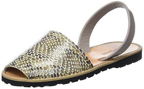 Minorquines Women's Avarca Sling Back Sandals Marron (Python) zTHP9vN