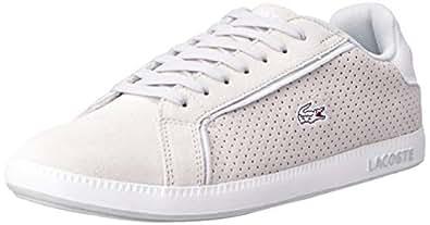 Lacoste Women's Graduate 119 4 Fashion Shoes, LT Gry/WHT, 10 US