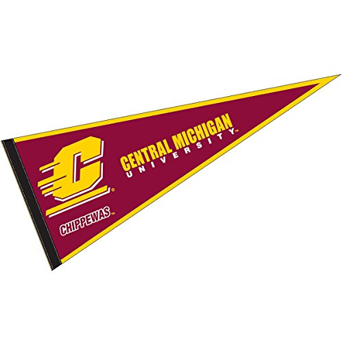 (College Flags and Banners Co. Central Michigan University Pennant Full Size Felt)