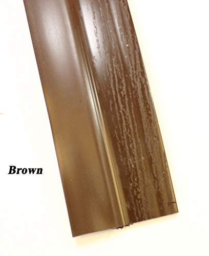 Double Car Garage Door Stop Sides and Top 2 Inch Weather Seal Any Size All Color (Brown) ()