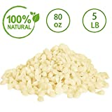 YYCH 5-lb Pure White Beeswax Pellets-100% Pure