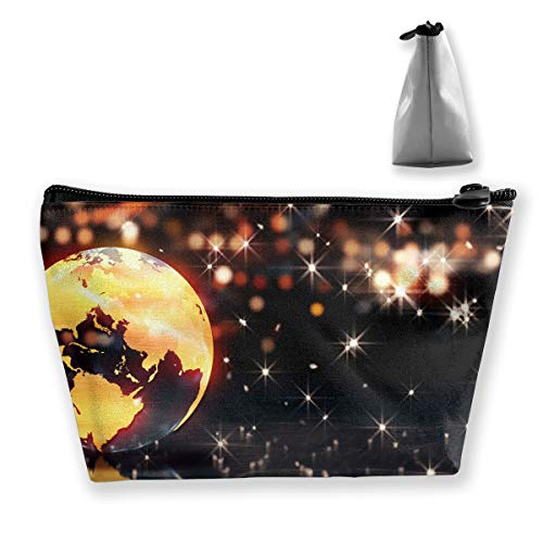 Makeup Bag Trapezoidal Storage Bag Earth Loop Animation