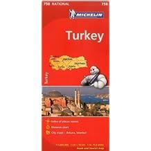Turkey Road Map MH758 Michelin 1:1,000T