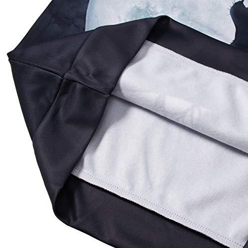 Felpe Unisex Tasche Solitario Cerniera Idgreatim Stampato Felpa Lupo Con 3d Pullover Cappuccio OqUFBWECAB