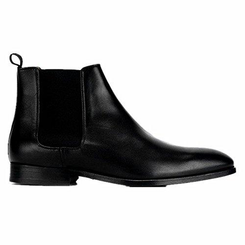 Jinfu Chelsea Laarzen Heren Leren Puntschoen Vrijetijdsschoenen Laarzen Enkellaarzen Formele Schoenen