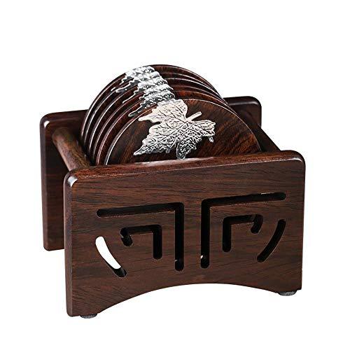 - Kung Fu Tea Set Accessories Solid Wood Cup Holder Japanese Simple Tea Coaster Set Insulation Pad