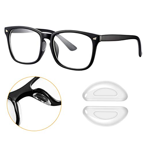 Transparent Eyeglasses Nose Pads, SUKKI Stick on Silicone Adhesive Nose Pads for Glasses, Eyeglasses and Sunglasses - 18 Pairs