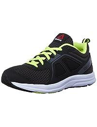 Reebok Kids Zone Cushrun 2.0 Running Shoes, Black/Coal/Solar Yellow/ Shark/White, 13.5