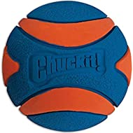 Chuckit! Ultra Squeaker Dog Ball High Bounce Blue/Orange 3 sizes