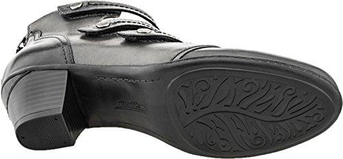 Serano Full Leather Grain Heel Women's Black Mid Earth Pumps 175gfw