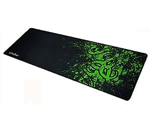 90x30cm Big Size Desk Mat Razer PC Computer Desktop Mouse Mat Pad Wireless USB Gaming Keyboard Mouse Gaming Large Mouse Pad XXL (Black-Green)