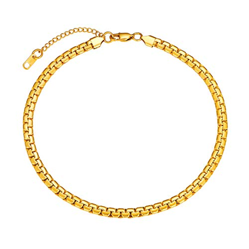 Mens Gold Chains 6mm Box Necklace for Boy Hip Hop Jewelry (Little Boy Jewelry)
