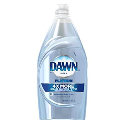 Dawn Platinum Power Clean Dishwashing Liquid Refreshing Rain, 28 Fl Oz per Bottle Set of 6
