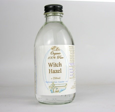 250ml Organic Pure Witch Hazel (additive free) - Packed in Glass. Natural Spa Supplies Ltd WH250c