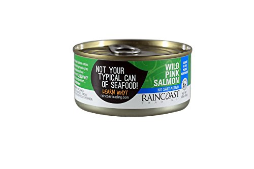 RainCoast Wild Pink Salmon, No Salt Added, 5.65 Ounce (Pack of 12) ()