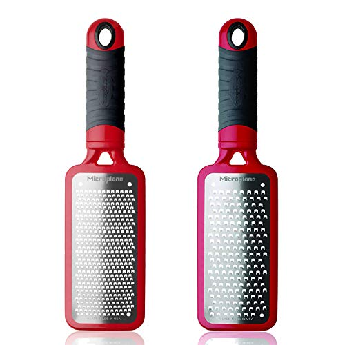Microplane Home Series Fine Grater and Coarse Grater, Red
