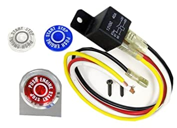 VMS RACING PUSH BUTTON ENGINE START Kit Ignition Kit Compatible with Honda  Accord