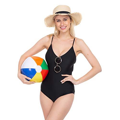 "JOYIN 12"" Rainbow Beach Balls (12 Pack); Inflatable 12pcs Beach Pool Party Toys"