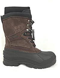 "LABO Men's Brown10"" Winter Snow Hunting Boots Shoes Waterproof Insulated 108"