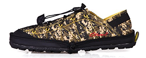 Legend E.C Men's Lesliee Ultra Soft Foldable Sneakers Breathable Leisure Compression Shoes (8.5, Camouflage Yellow)