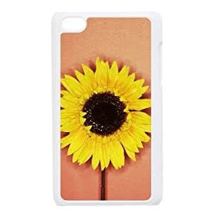 Beautiful flowers Unique Design Cover Case with Hard Shell Protection for Ipod Touch 4 Case lxa#877503