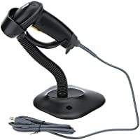 WoneNice USB Automatic Barcode Scanner Scanning Barcode Bar-code Reader with Hands Free Adjustable Stand (Black)