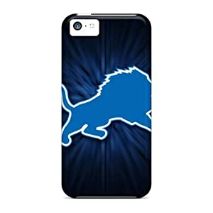 Premium Durable Detroit Lions Fashion Tpu Iphone 5c Protective Case Cover