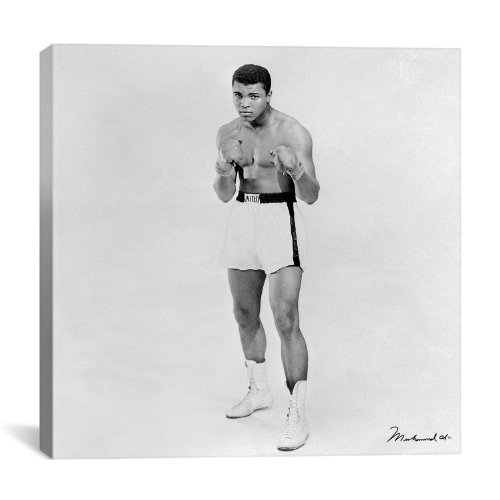 ht Boxer Muhammad Ali by Canvas Art Print, 26 by 26-Inch (Cotton Heavyweight Boxers)