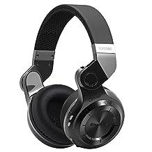 Kiwitata Bluedio T2 Bluetooth Headphones Wireless Stereo Headset Folding Over Ear Headphones Built-in Mic Noise Cancelling (Black)