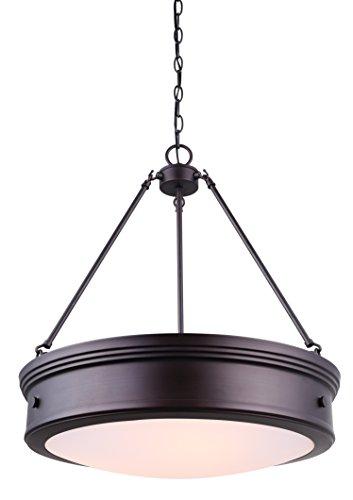 CANARM LTD ICH624A04ORB20 Boku ORB 4 Light Chandelier Oil Rubbed Bronze with Flat Opal Glass