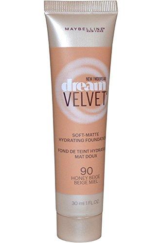 Maybelline New York Dream Velvet Soft Matte Foundation 30ml - 90 Honey Beige (Best Velvet Finish Foundation)