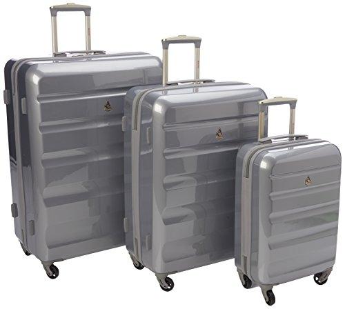 Aerolite Juego de maletas, Silver 715 (Plateado) – PCF715 SILVER 3 PCS SET