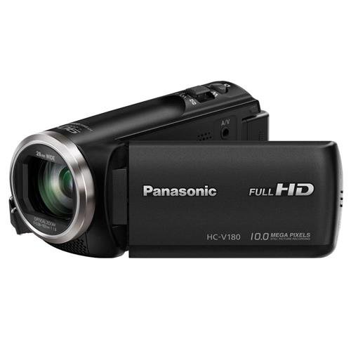 Panasonic HC-V180K Full HD Camcorder with 50x Stabilized Optical Zoom (Black) by Panasonic