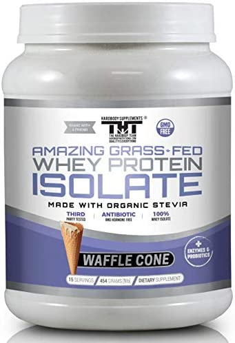 Amazing Grass Fed Whey Protein Powder 15 Serving, Waffle Cone