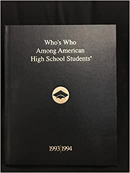 Image result for who's who among american high school students 1993-1994