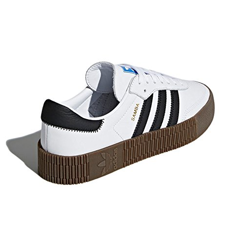 Femmes et Forme Sports Sneaker Pantoufles Plate adidas avec Originals Noir Blanc pour Samba pvC0PnC