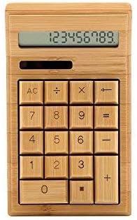 Bamboo - Calculadora solar de bambú: Amazon.es: Oficina y papelería