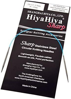 HiyaHiya Sharp Stainless Steel Fixed Circular Needle 32//80cm x 4.00mm