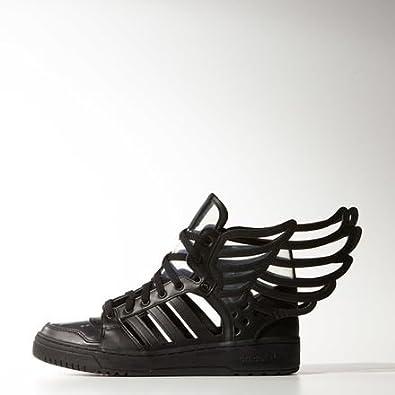 adidas originali degli uomini è ali sagoma di pelle nera, scarpe da ginnastica
