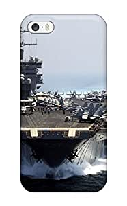 JudyRM Scratch-free Phone Case For Iphone 5/5s- Retail Packaging - Aircraft Carrier
