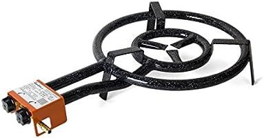 Garcima 20450 Hornillo paellero 450/2 Fuegos, Hierro, Negro, 45 cm: Amazon.es: Hogar